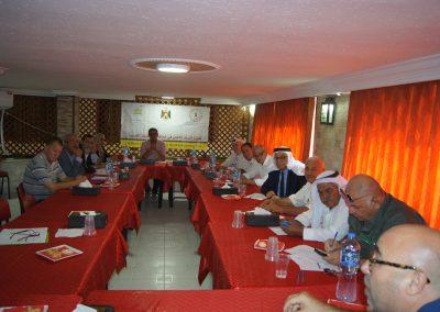 جنين- لقاء بين الشرطة المجتمعية ورجال الإصلاح والقضاء العشائري  والوجهاء والقادة المجتمعيين