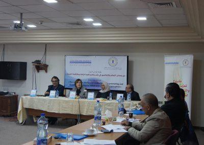 جلسة حوارية حول دور وسائل الاعلام والاعلاميون في تعزيز النزاهة الشفافية  ومكافحة الفساد