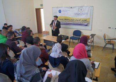 ورشة :دور الشباب في المشاركة بالانتخابات-جامعة القدس