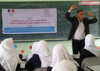 لقاء في رفح حول حماية المراهقين من العنف المبني على النوع الاجتماعي