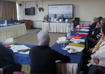 """الجلسة الحوارية حول """" المعيقات القانونية والسياسية والاقتصادية التي تحول دون تطبيق اتفاقية الأمم المتحدة لمكافحة الفساد"""