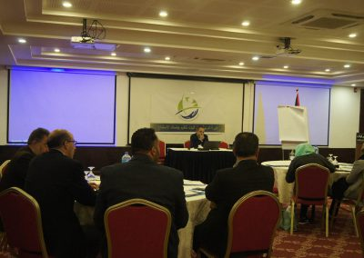 الدورة التدريبية  لأعضاء مجالس الإدارة للغرف التجارية في محافظات الضفة حول جلسات الاستماع
