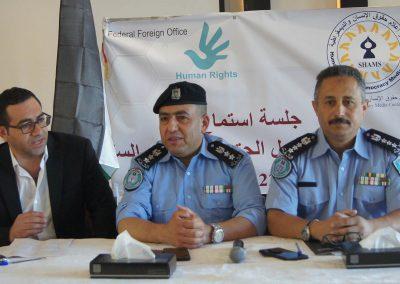جلسة استماع لجهاز الشرطة حول الحق في التجمع السلمي