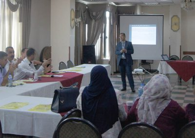 الدورة التدريبية حول الفساد تعريفة واشكاله وطرق الوقاية منه لموظفين وضباط التوجيه السياسي في محافظات الوسط والجنوب