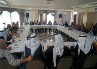 لقاء حول دور رجال الإصلاح في تعزيز مشاركة الشباب والنساء في الانتخابات . اليوم الاثنين 22-8-2016 م  الماصيون - رام الله