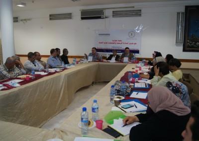 نظم مركز اعلام حقوق الانسان والديمقراطية #شمس جلسة حوارية حول تعزيز المساءلة الرسمية والمجتمعية لمحاربة الفساد في مدينة جنين . الاربعاء - 24/8/2016