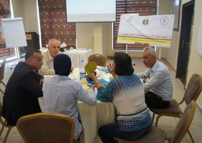 """دورة تدريبية  """"  حول تعزيز السلم الأهلي في محافظات الضفة الغربية """" في مدينة رام الله ."""