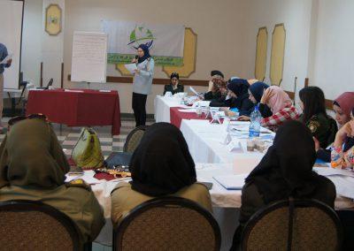 الدورة التدريبية للنساء العاملات في الأجهزة الأمنية حول الفساد وطرق مكافحته