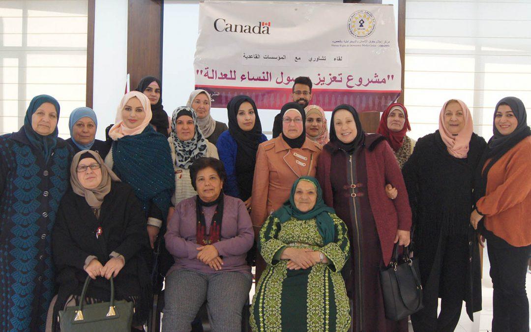بمبادرة من مركز شمس تأسيس شبكة من المؤسسات النسائية القاعدية من أجل تعزيز وصول النساء للعدالة