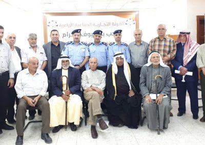 رشة عمل مع الشرطة ورجال الإصلاح والعشائر  في طولكرم