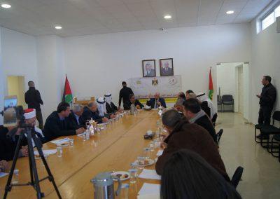 لقاء مع مجلس السلم الأهلي والمجلس التنفيذي في محافظة بيت لحم