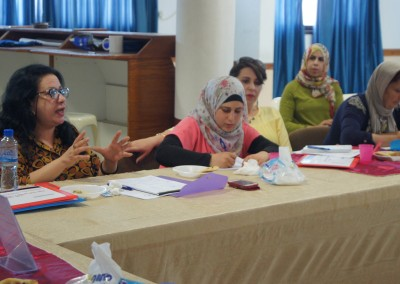 """A seminar on """" enhancing official and civilian accountability to combat corruption in Jenin Governorate"""".  Wednesday 24/8/2016 ."""
