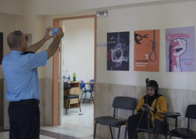 الندوة حول عقوبة الإعدام بين مؤيد ومعارض وافتتاح معرض الحياة حق /جنين