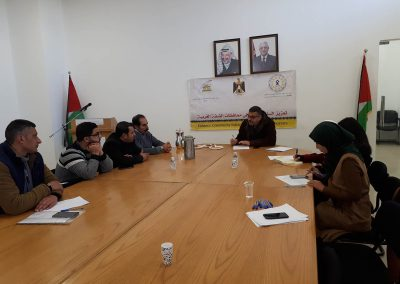 لقاء مع مؤسسات المجتمع المدني- النساء- الشباب- الإعلام في محافظة بيت لحم