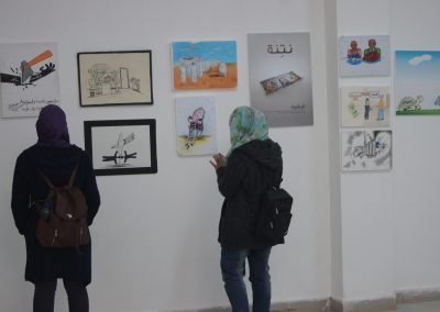 """المعرض الفني حول محاربة الفساد """" فلسطين بعيون الشباب وطن بلا فساد"""" / جامعة القدس"""