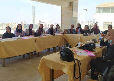 الدورات التدريبية حول تعزيز مشاركة الطالبات في مجالس الطلبة في الجامعات الفلسطينيية ترشيحاً وانتخاباً