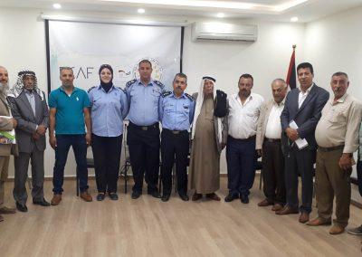 ورشة عمل مع الشرطة ورجال العشائر والإصلاح في محافظة نابلس