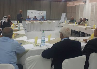 ورشة عمل مع الشرطة ورجال العشائر والإصلاح في محافظة الخليل