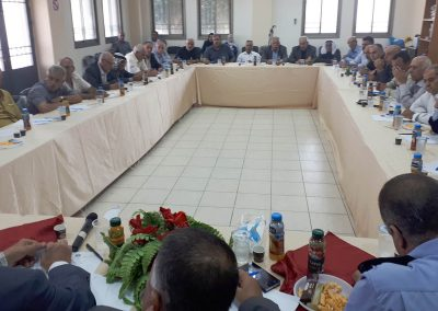 ورشة عمل مع رجال العشائر والشرطة في محافظة طوباس