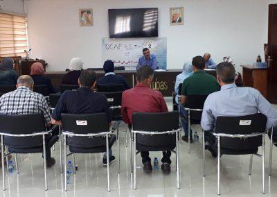 ورشة عمل مع المجتمع المدني والنساء والشباب في محافظة طوباس
