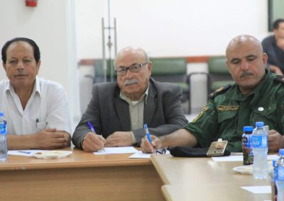 ورشة عمل مع الشرطة ورجال العشائر والإصلاح في محافظة سلفيت