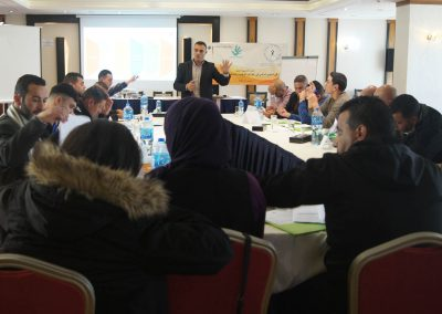 الدورة التدريبية لعناصر الأجهزة الأمنية حول الحق في التجمع السلمي في القوانين الوطنية والمعاهدات والإتفاقيات الدولية