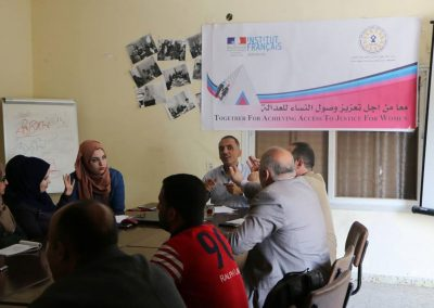 لقاء في رفح حول دورالإعلام في تمكين النساء من الوصول للعدالة
